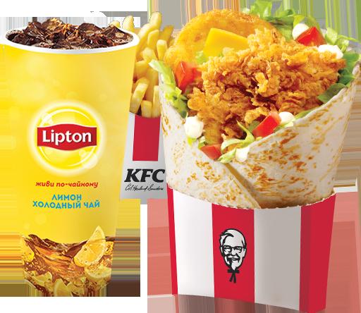 КФС купон на Боксмастер на выбор + картофель фри стандартный + газированный напиток 0,4 на выбор